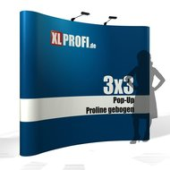 Pop-Up Display Proline gebogen 3x3 Felder inkl. Druck