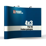 Pop-Up Display Proline gebogen 4x3 Felder inkl. Druck